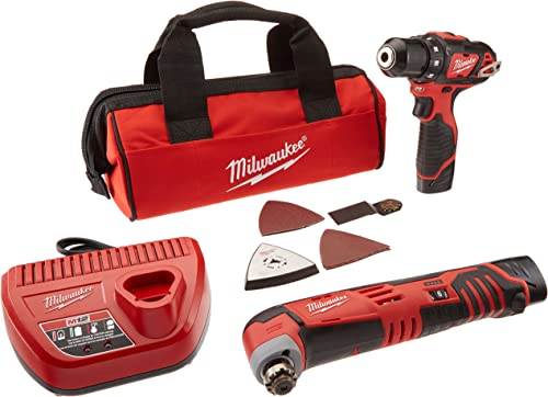 Milwaukee 2495-22 M12 Combo 3 8 Drvdrl Multi-tool W 2 Bat