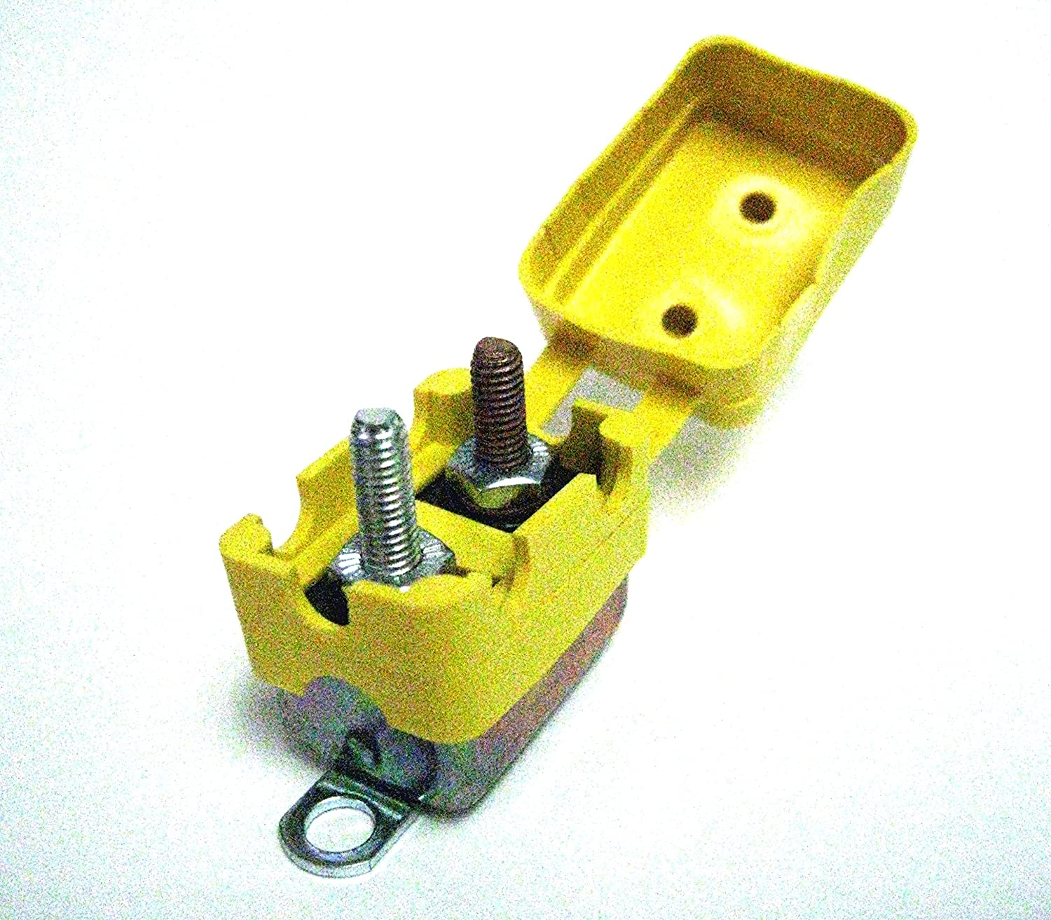 Vulcan Shortstop Circuit Breaker 25 AMP 12V Automatic Reset with Protective Yellow Boot Vulcan Auto Components