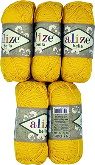 Alize Bella - Ovillo de lana para hacer punto (100 % algodón, 250 ...