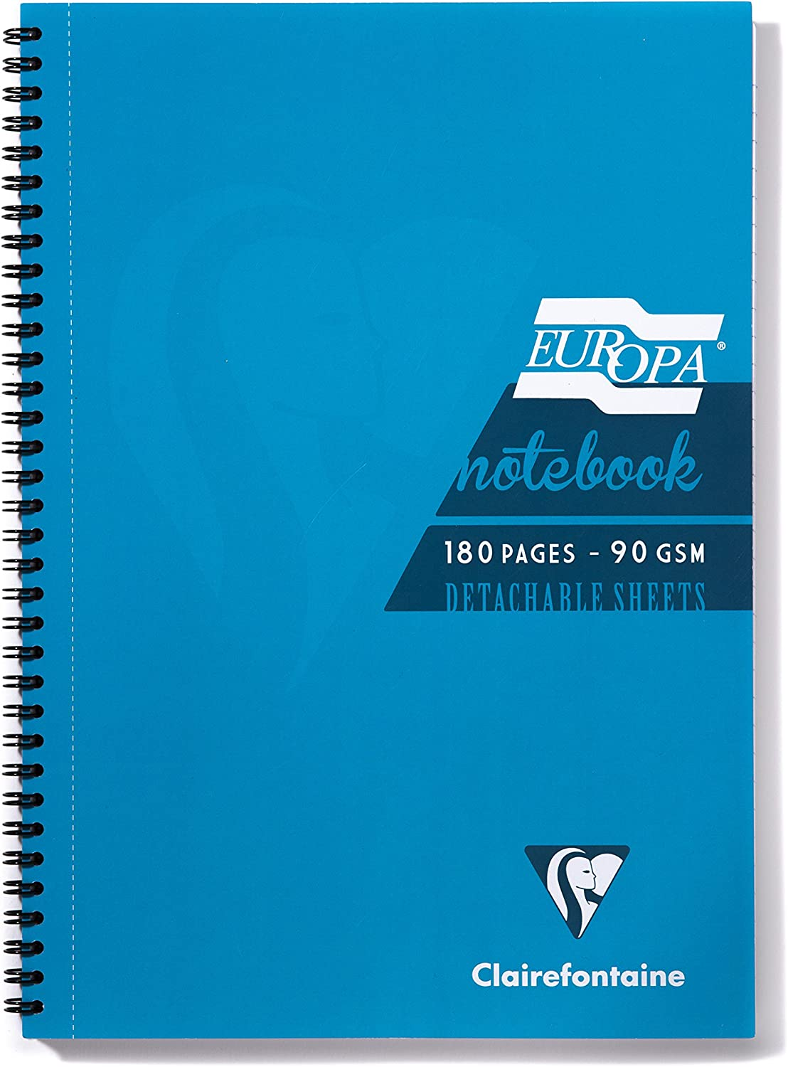 Green 90gm A4 Clairefontaine Europa Sidebound Notebook 90 sheets