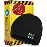Bargeebai Unisex Beanie Hat Bluetooth Wirless Upgraded Loud Stereo Speaker Unique Awesome Cute Fall Winter Birthday Tech Gift