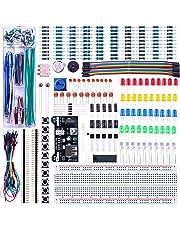 ELEGOO Upgrade Electronics Fun Kit w/ Power Supply Module, Jumper Wire, Precision Potentiometer, 830 tie-points Breadboard for Arduino, Raspberry Pi, STM32