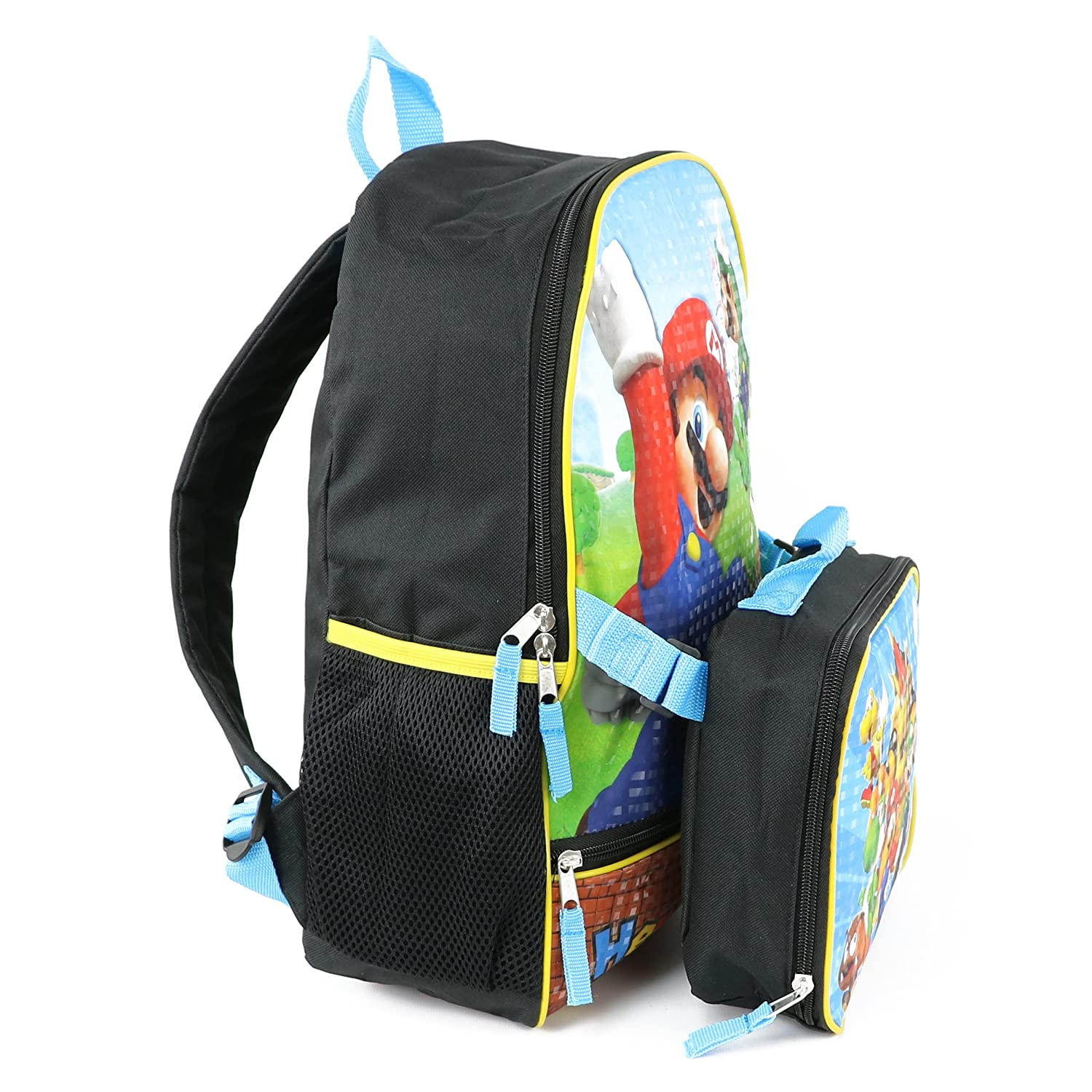 super mario kids 16 backpack with insulated lunch