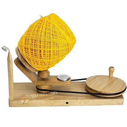 Star India Craft Handmade Center Pull Yarn Ball Winder Natural