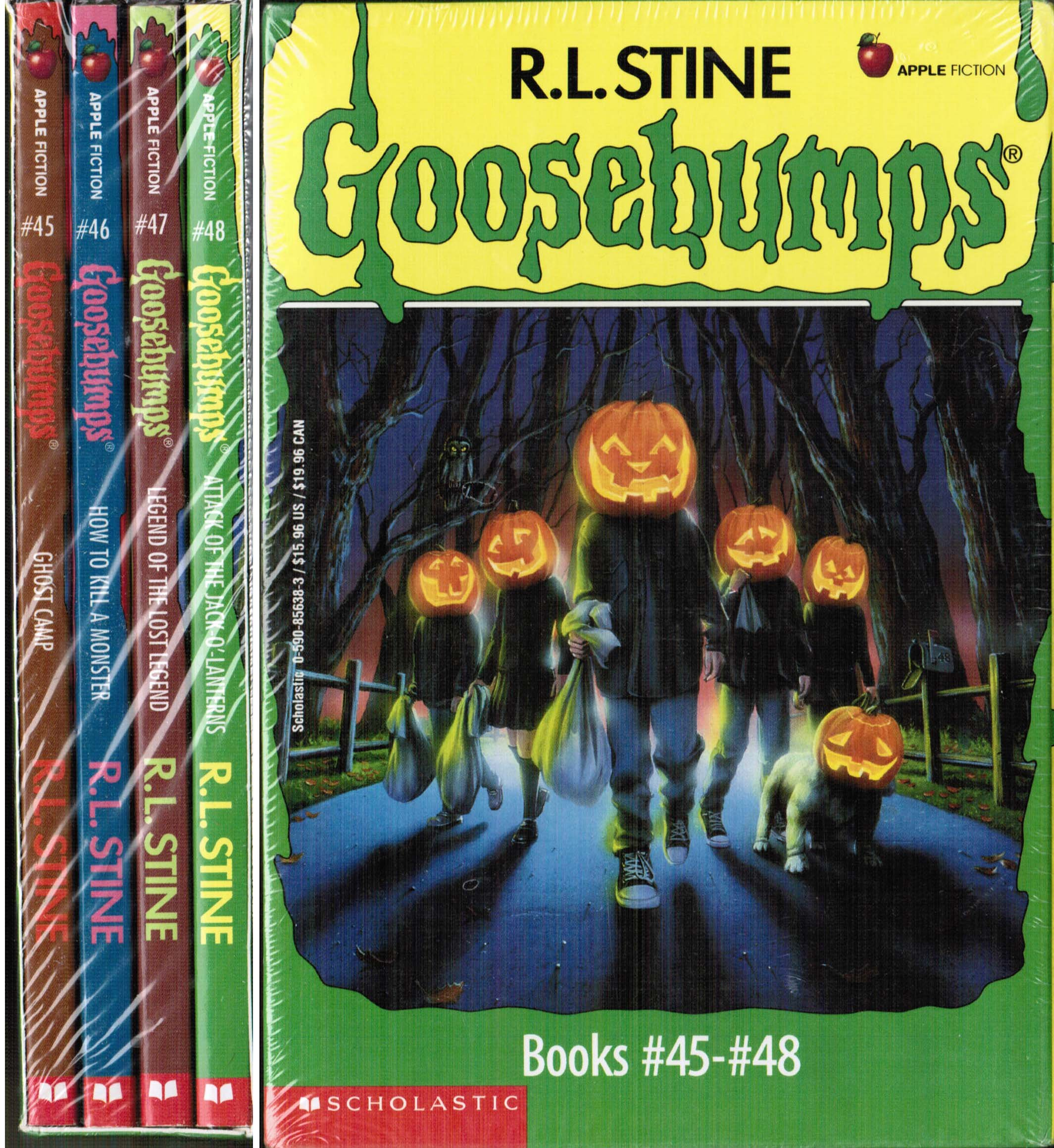 Goosebumps Boxed Set Books 45 48 Ghost Camp How To Kill A Monster Legend Of The Lost Legend And Attack Of The Jack O Lanterns Stine R L 9780590856386 Amazon Com Books