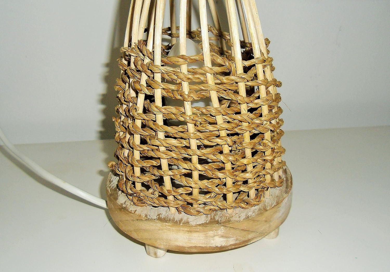 Lámpara de mimbre y cuerda: Amazon.es: Handmade