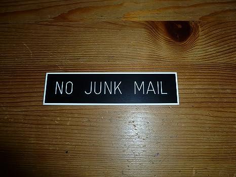 Amazon.com: Negro buzón tamaño no junk mail cartel negro ...