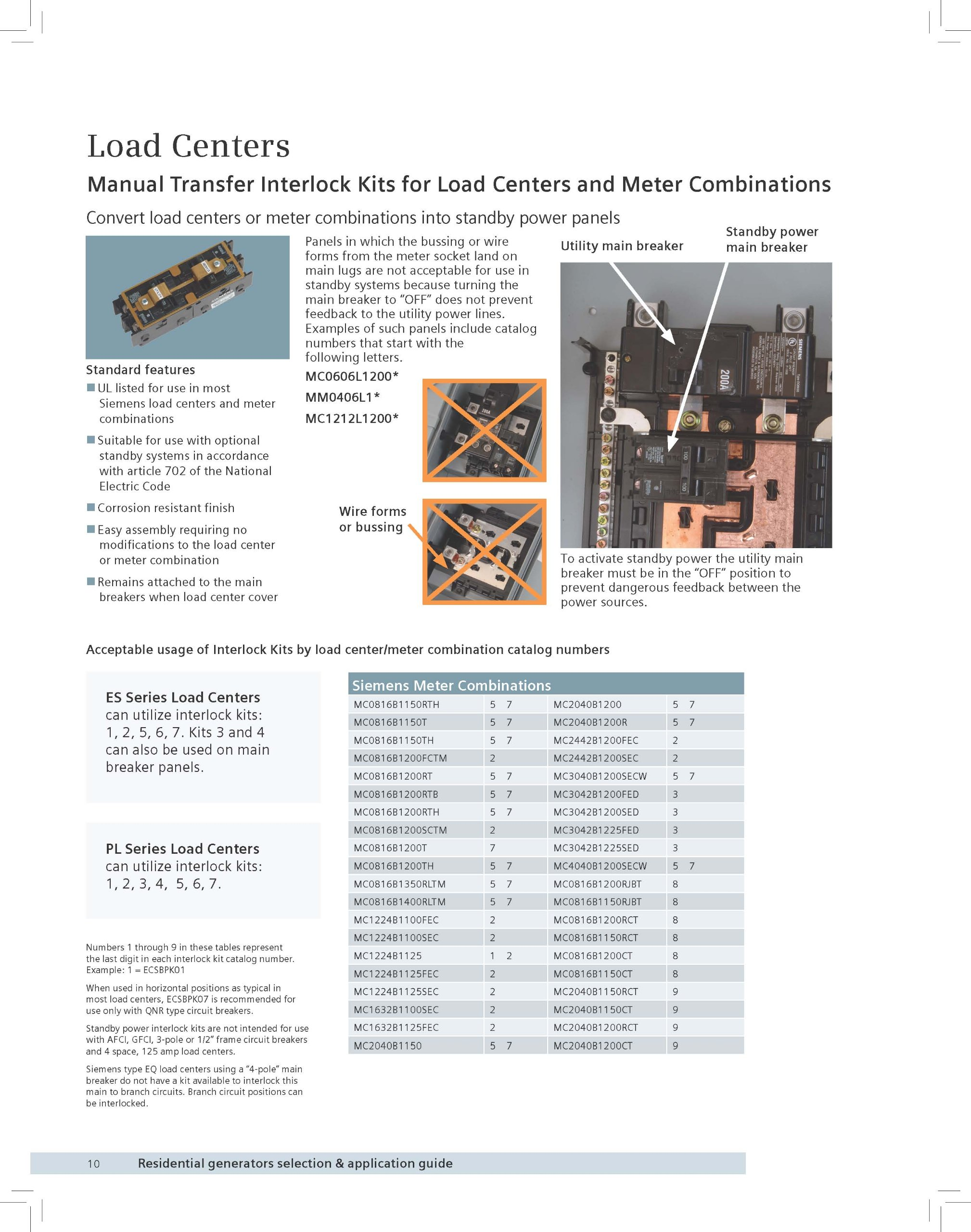 Siemens ECSBPK03 Generator Standby Power Mechanical Interlock by Siemens (Image #2)
