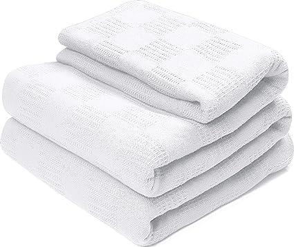 Amazoncom Utopia Bedding Woven Cotton Blanket Breathable 100