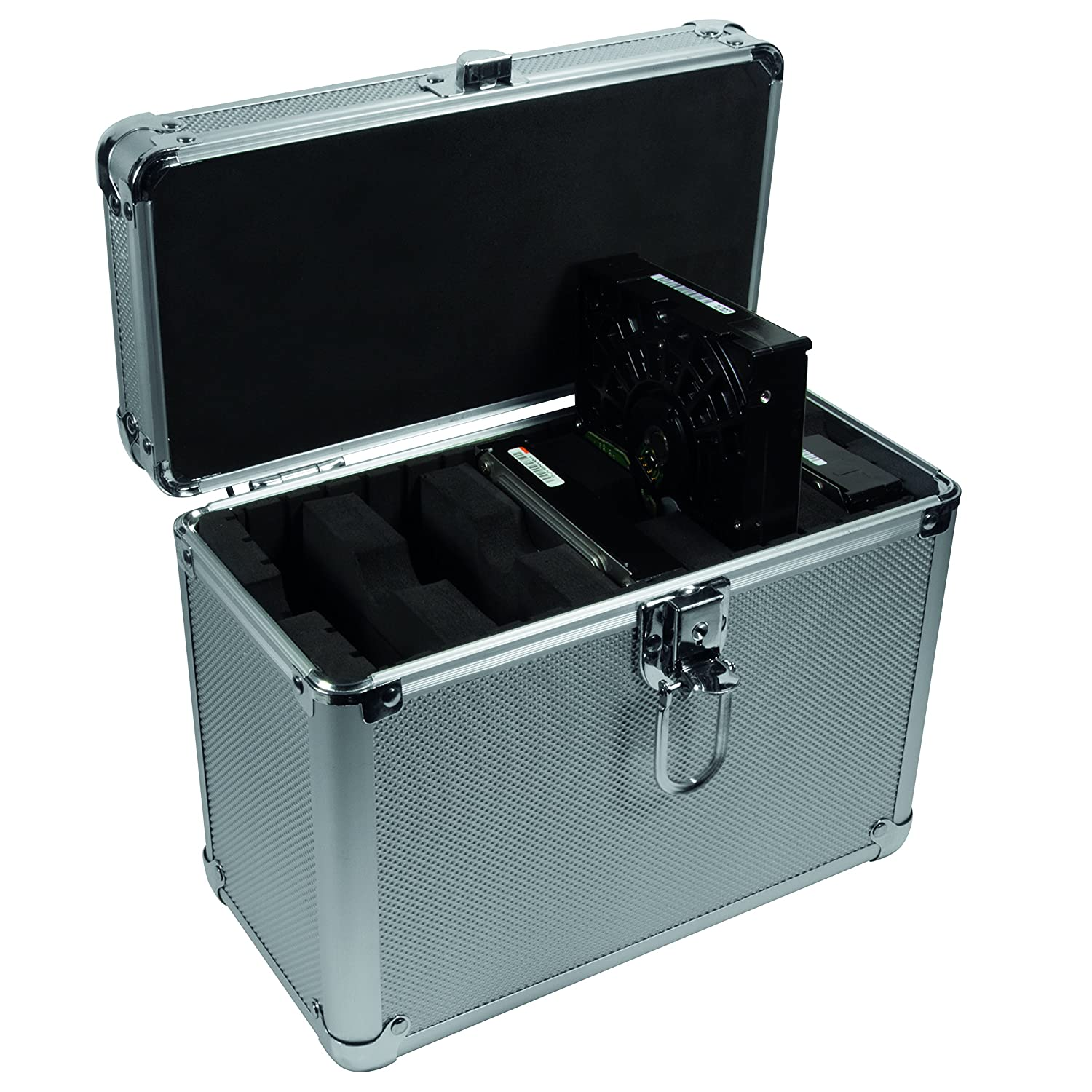 LogiLink Aluminium Case to Protect up to 4/x 3.5/and 2/x 6.4/cm 2.5/inch HDD Silver Silver 5X 3,5 HDD