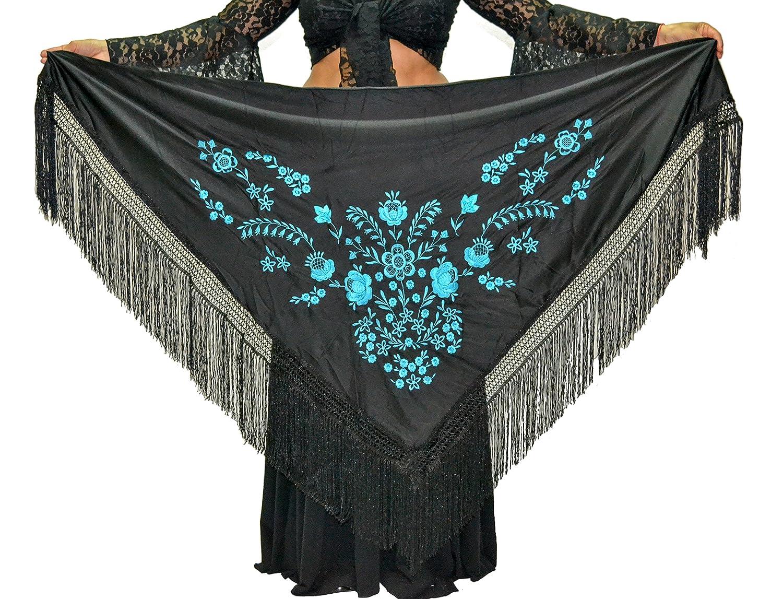 175X75cm ANUKA Mant/ón Mediano triangular de flamenco o sevillanas