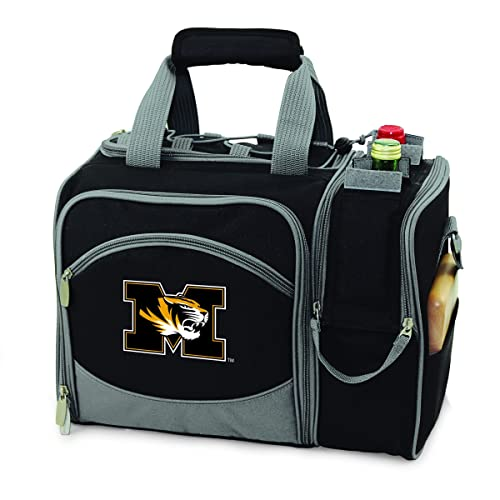 579ff160848f Amazon.com  PICNIC TIME Malibu Black NCAA University of Missouri Tigers  Embroidered Picnic Pack  Sports   Outdoors