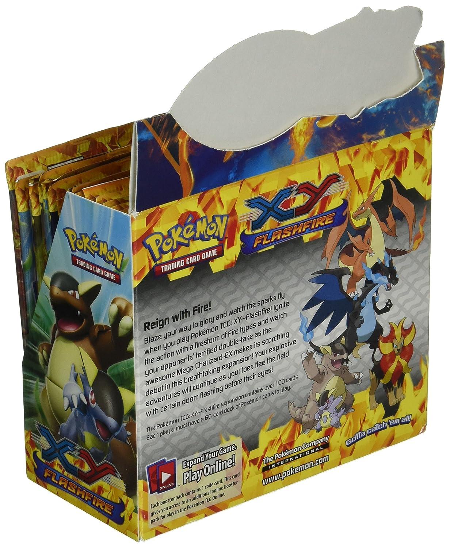 Pokemon XY Flashfire Sealed Booster Box (36 Packs): Amazon ...