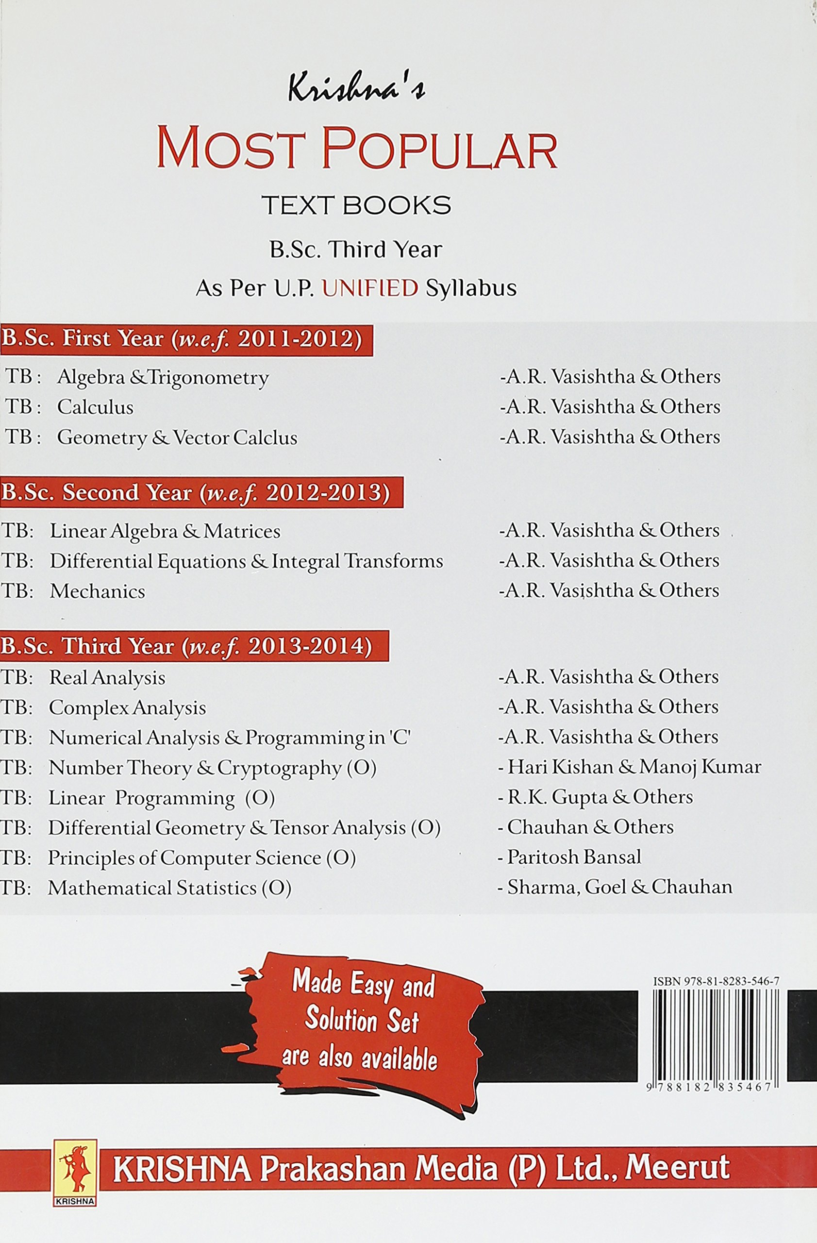 Amazon in: Buy Textbook Real Analysis (PB)    Krishna Prakashan Book