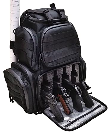 70b11a8dcb Amazon.com  Case Club Tactical 4-Pistol Backpack with Rainfly   Molle  Straps