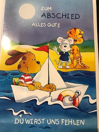 Despedida tarjeta de despedida con Alles Gute, TE nosotros ...