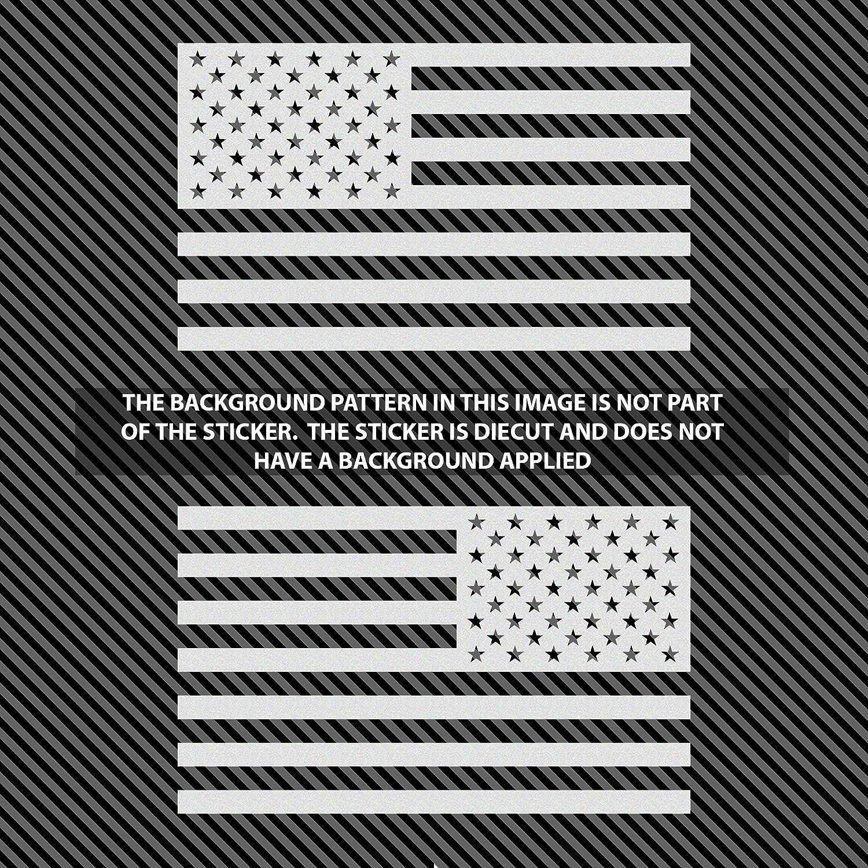 USA American 3D Metal Flag Auto Emblem for Cars Trucks 2pcs Forward and Reverse Set 5x3, Brush//Chrome//Black