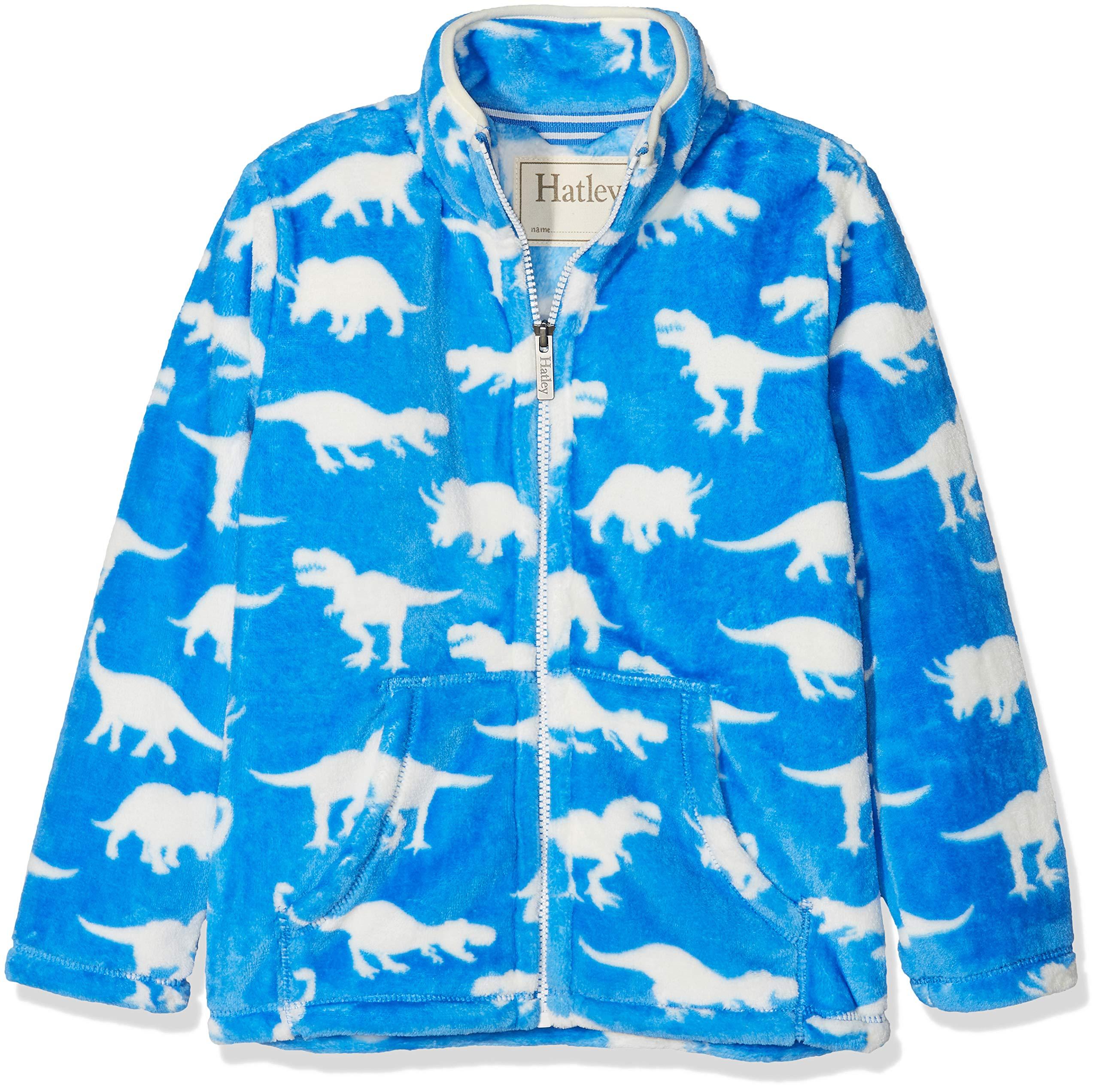 Hatley Boys' Little Fuzzy Fleece Full Zip Jackets, Roaming Dinos, 2 Years