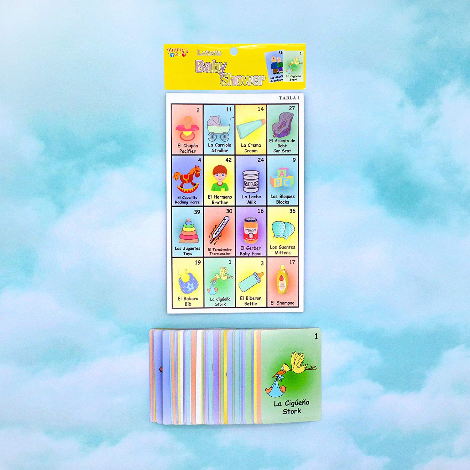 Amazon.com: JIMMYS TOYS Baby Shower Loteria Game: Toys & Games