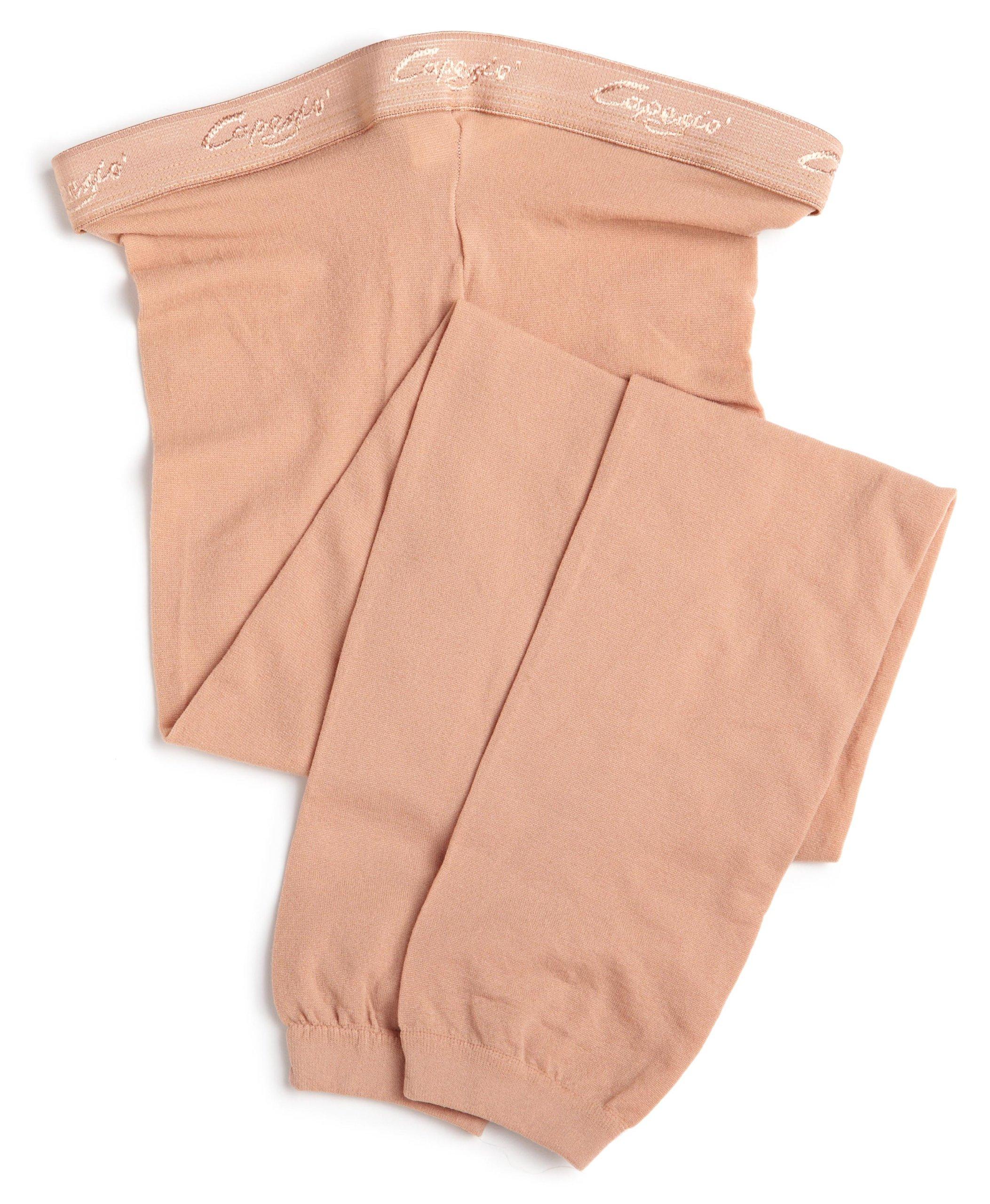 Capezio Big Girls' Hold & Stretch Footless Tight Socks, Light Suntan, Medium