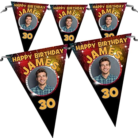 Personalised 18th 21st 30th 40th 50th Happy Birthday PHOTO Banner N78 ANY AGE