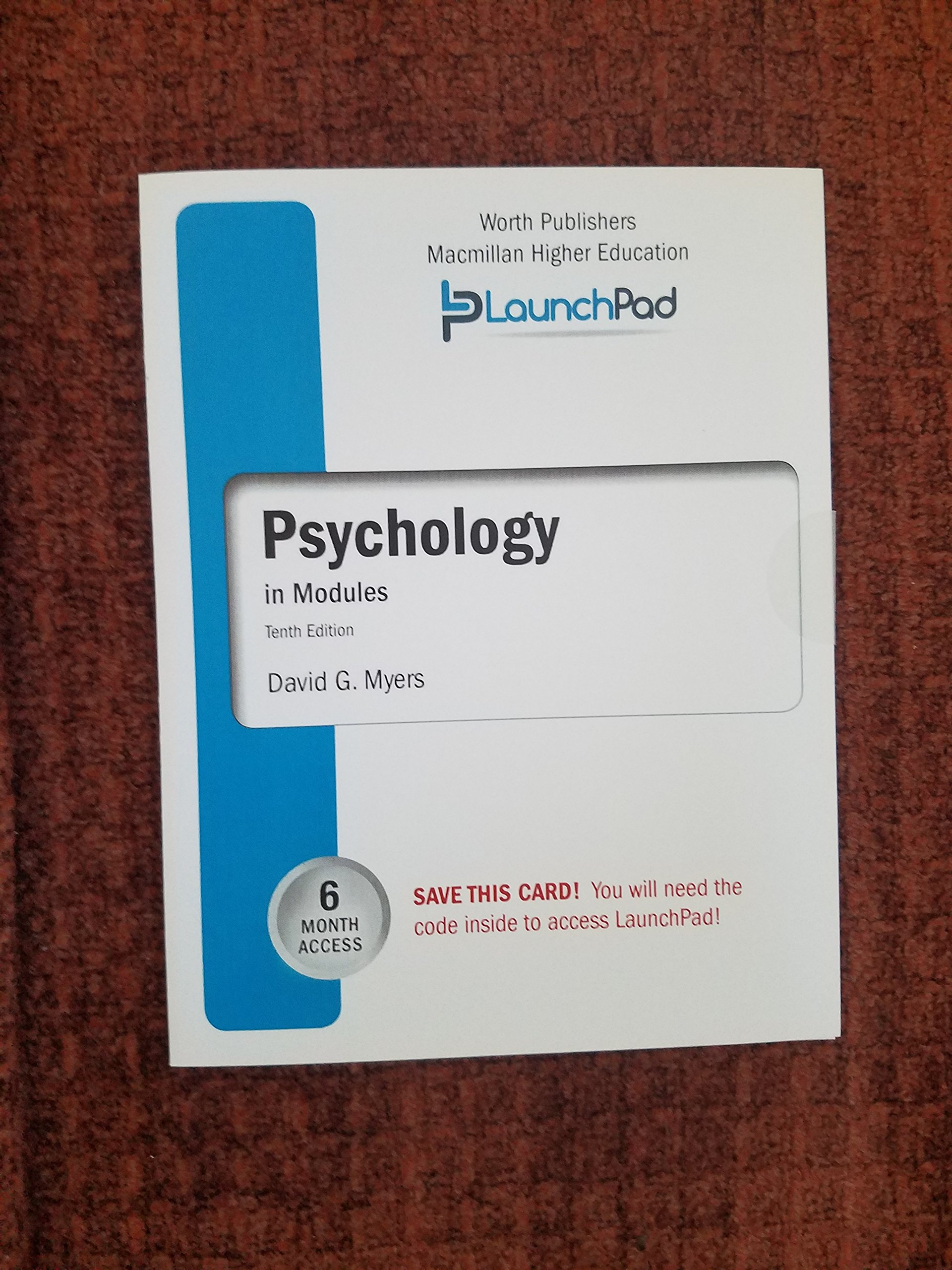 Download LaunchPad for Myers' Psychology (Six Month Access) 10th Edition pdf epub