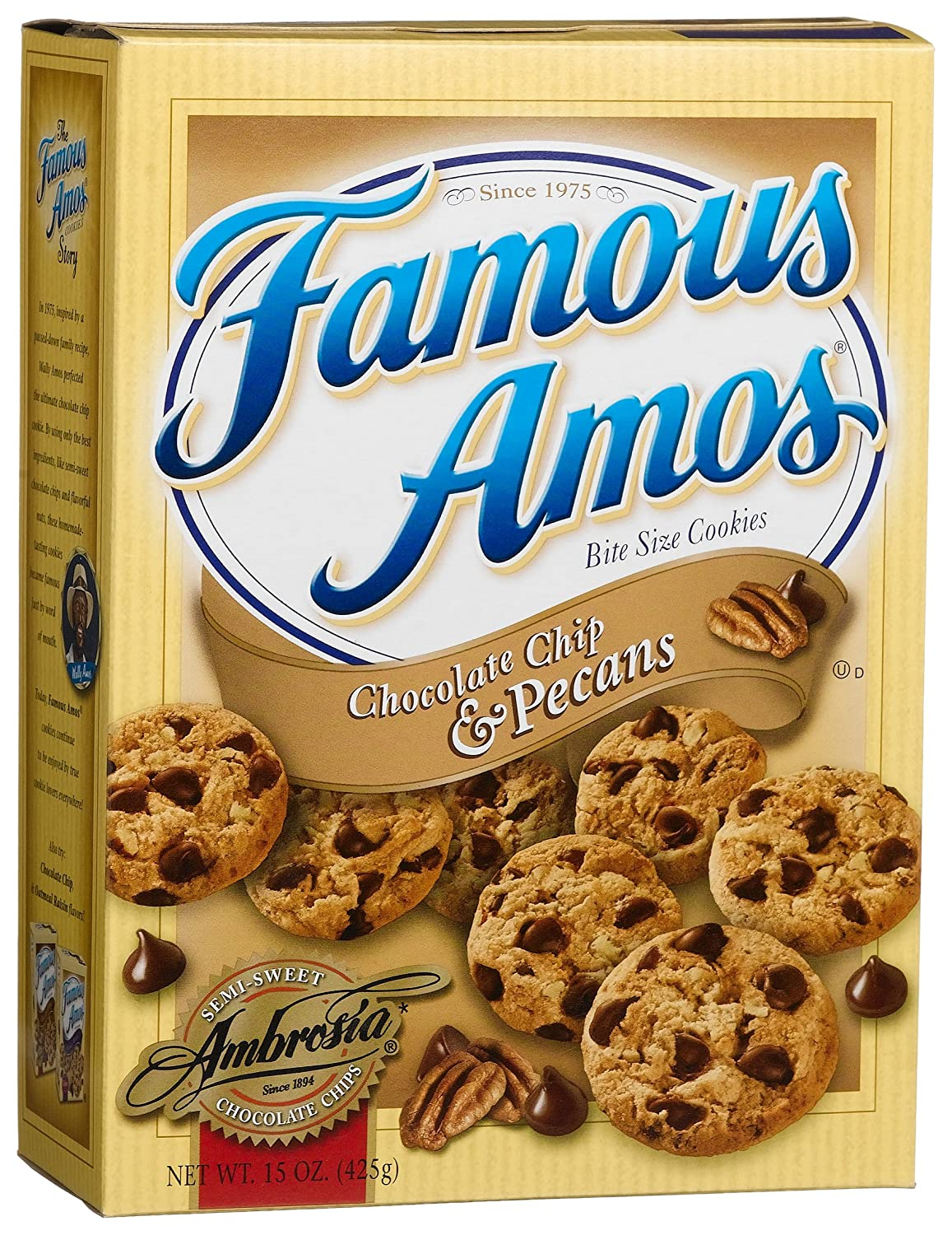 famous amos cookies Famous amos chocolate chip cookies are inspired by a passed-down family  recipe, that wally amos perfected by using only the best ingredients, like.