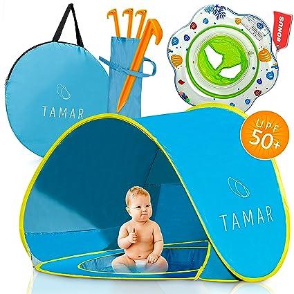 TAMAR bebé playa tienda de campaña: niños y Tots azul Pop-up sol refugio