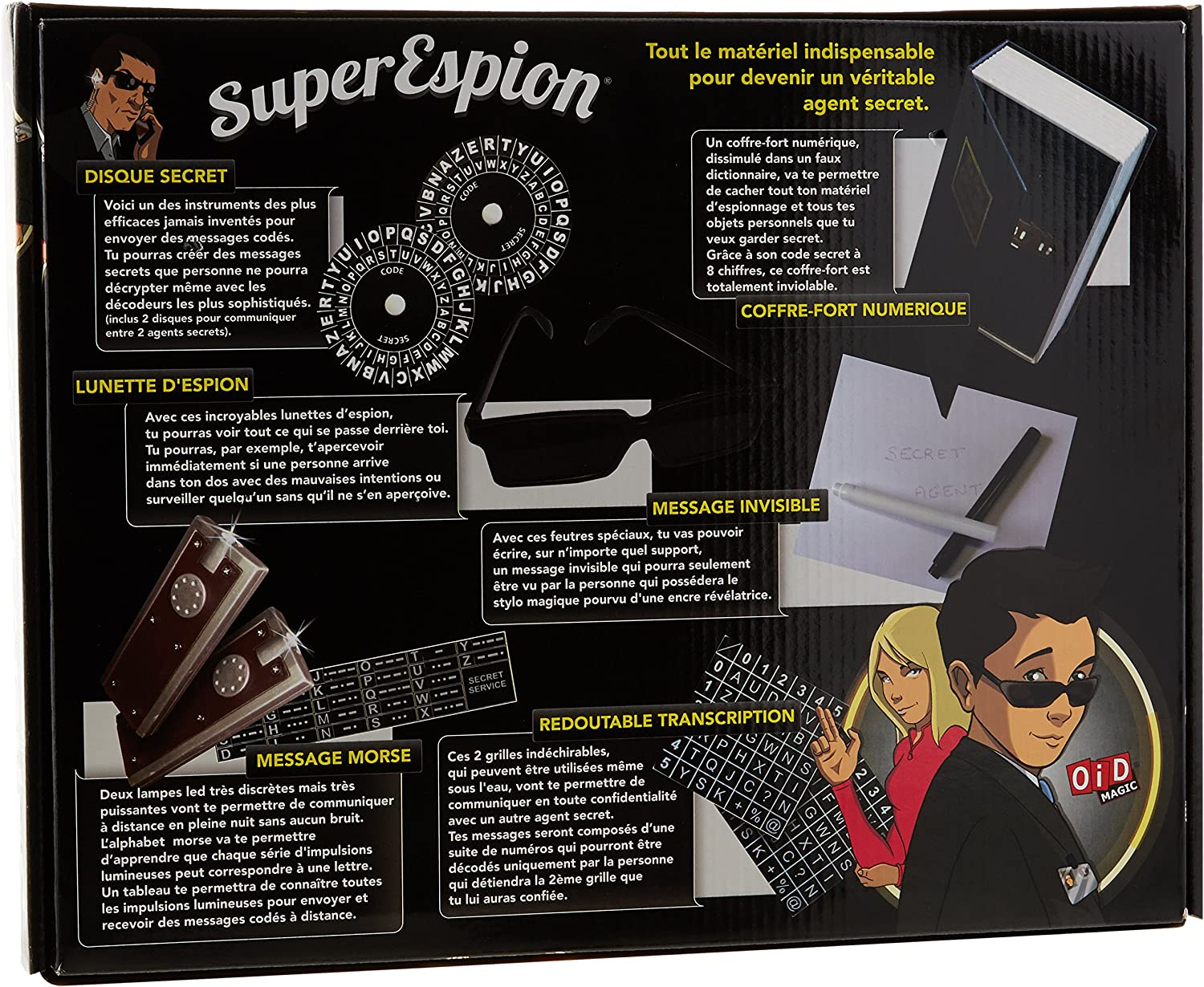 Megagic ESP1 Coffret Espionnage OID Magic Jeu Educatif et Scientifique