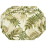YOURTABLECLOTH Elegant Fern Vinyl Table Placemats Placemat with Thicker Construction Set of 4 Similar Color Mats Heavy Duty, Premium Finish Double Layer Design Be it Restaurant or Home
