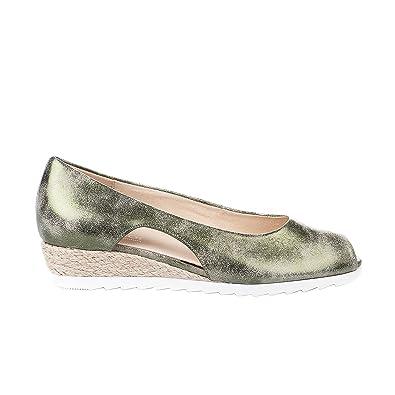 Gabor Ballerines Femme Kaki Amazon Fr Chaussures Et Sacs