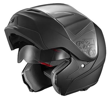 74d4e2746ee46 GLX Modular Helmet with Sun Shield (Matte Black