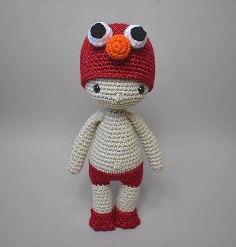 Amazon Elmo Doll Crochet Elmo Doll Amigurumi Elmo Boy In