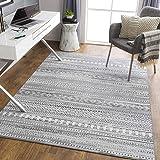 "Artistic Weavers Bohemian Moroccan Kenna Area Rug, 5'3"" x 7', Gray"
