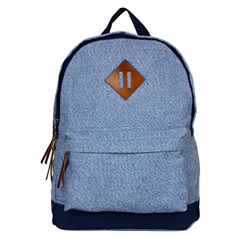 b6ea5cbead53 Anekaant Basic Blue Canvas Backpack  Amazon.in  Bags