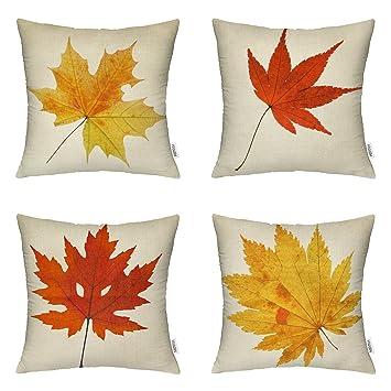 Ahorn Blätter Throw Kissenbezüge Dekorative Herbst Dekor Bunte