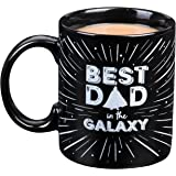 "Star Wars Fathers Day Coffee Mug - Darth Vader ""Best Dad in the Galaxy"" Ceramic Mug - 11 oz"