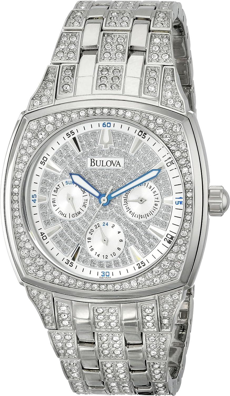 Bulova 96C002 Reloj de Acero Inoxidable con Cristales Swarovski para Hombre