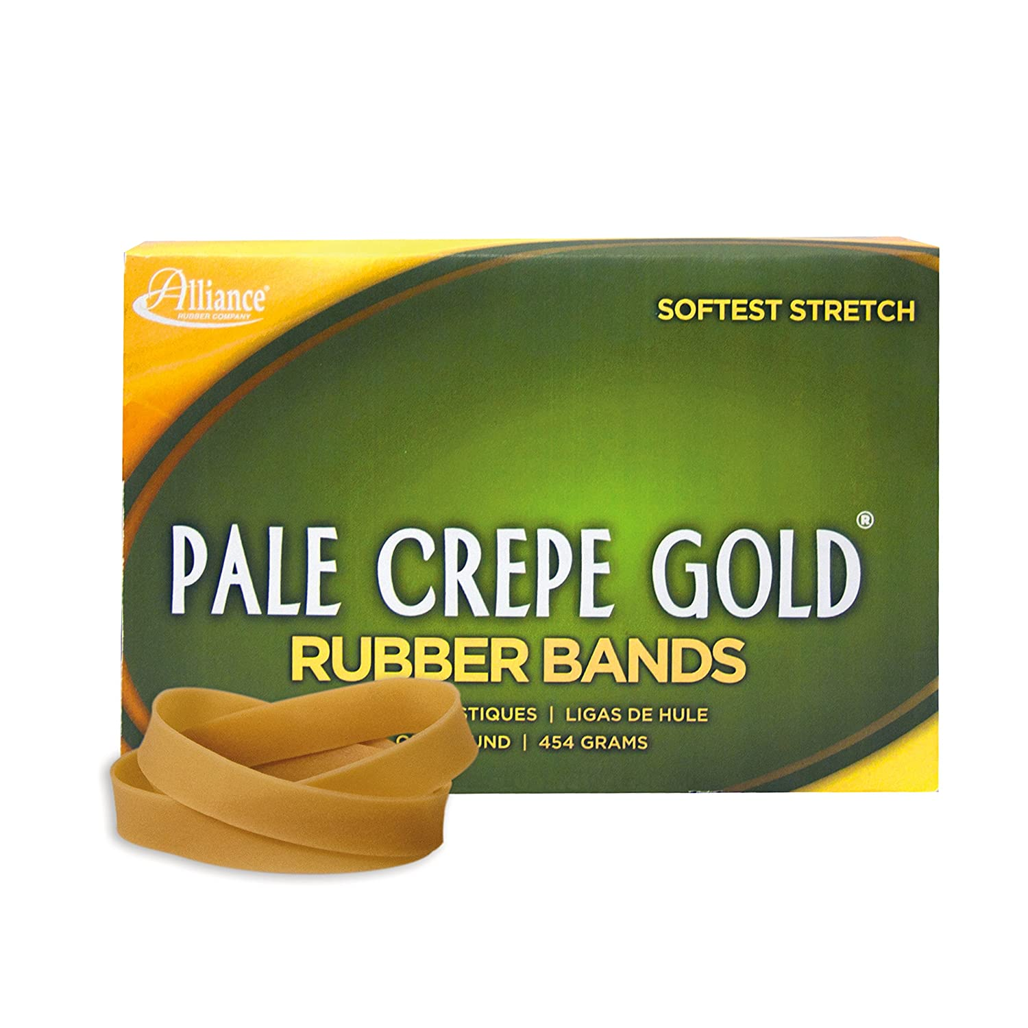 Alliance Rubber 20125 Pale Crepe Gold Rubber Bands Size #12 1 3//4 x 1//16, Golden Crepe 1 lb Box Contains Approx 3850 Bands