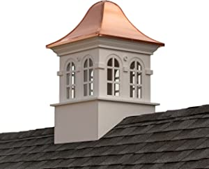"Good Directions Smithsonian Rockville Vinyl Cupola with Copper Roof, 26"" x 42"""