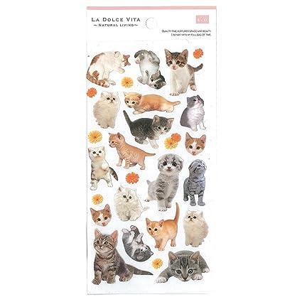 Gato adhesivo de papel para manualidades DIY agenda Deco ...