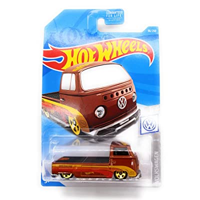 Hot Wheels 2020 Volkswagen Series Volkswagen T2 Pickup 96/250, Brown: Toys & Games