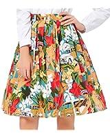 GRACE KARIN Women Knee-Length Flare Midi Skater Skirt with Pockets ...