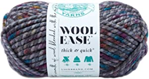 Lion Brand Yarn 640-527 Wool-Ease Thick & Quick Yarn, 80 Meters, Abalone