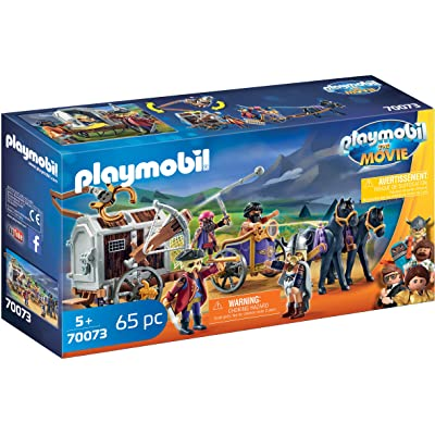 PLAYMOBIL The Movie Charlie with Prison Wagon: Toys & Games
