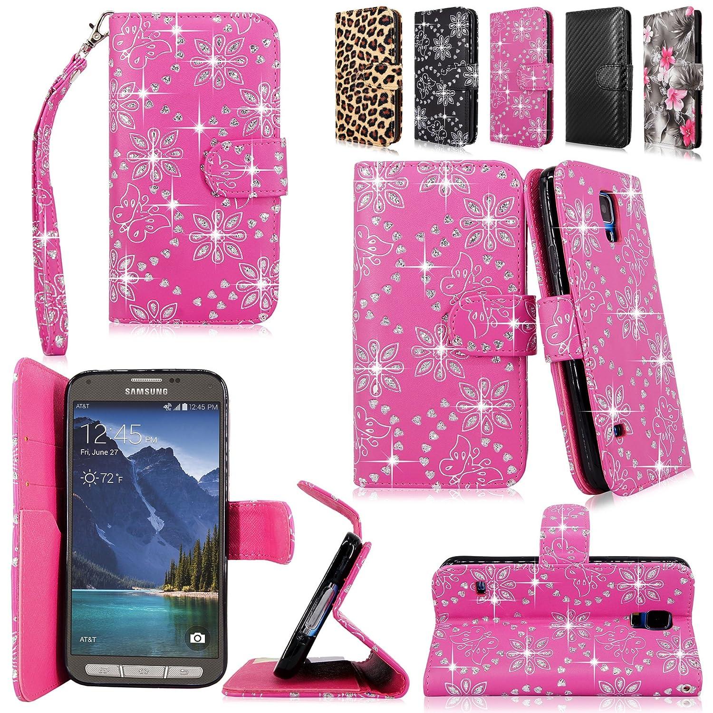 Cellularvilla Wallet Samsung Glitter Leather Image 1