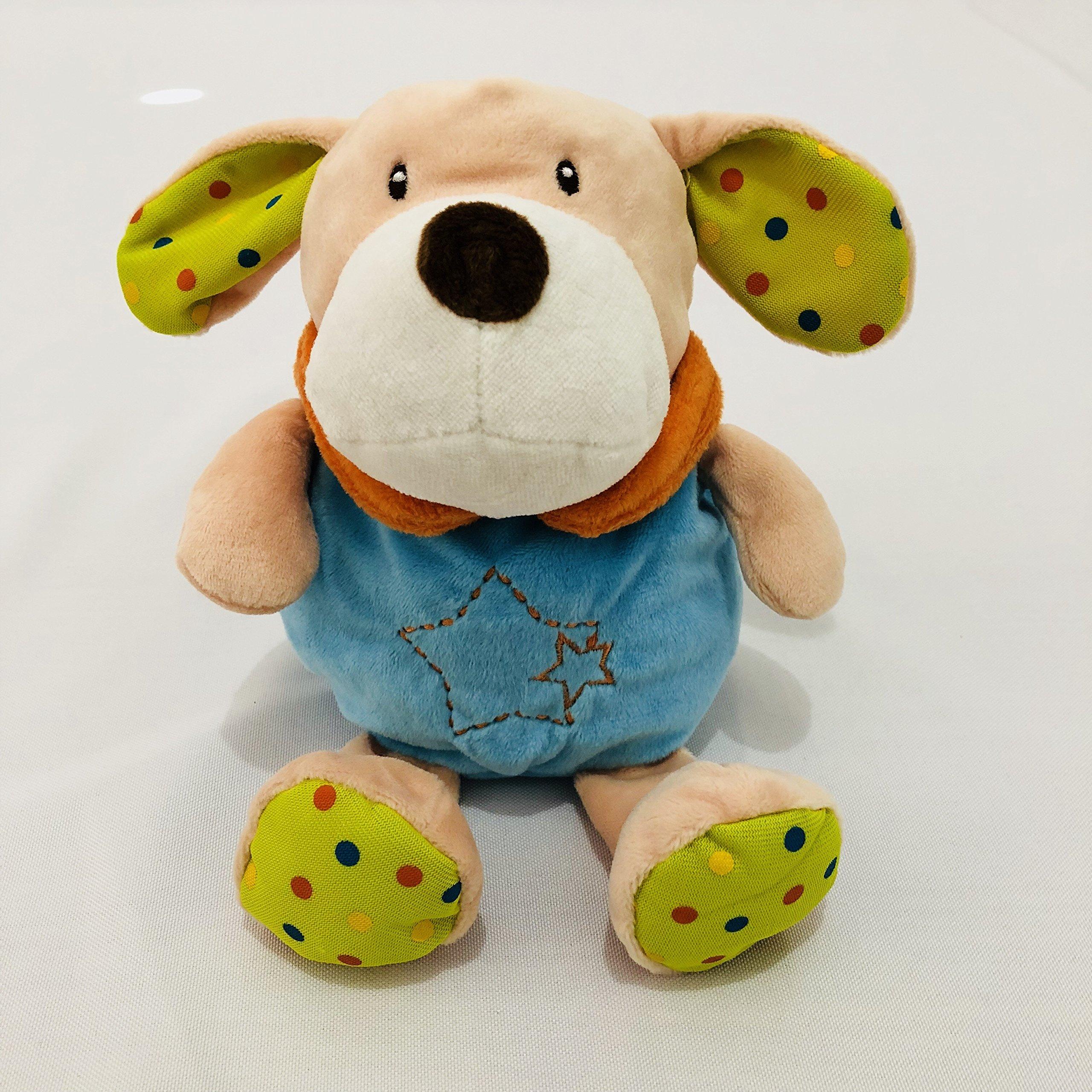 SEALOVESFLOWER Zipper Brown Dog Design Animal And Cartoon Styles Baby Bottle Huggers,Infant Bottle Cover,Toddler's Bottle Bag,Baby Milk Bottle Plush Bag (Dog)