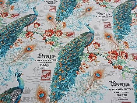 fabric Vintage bird pattern
