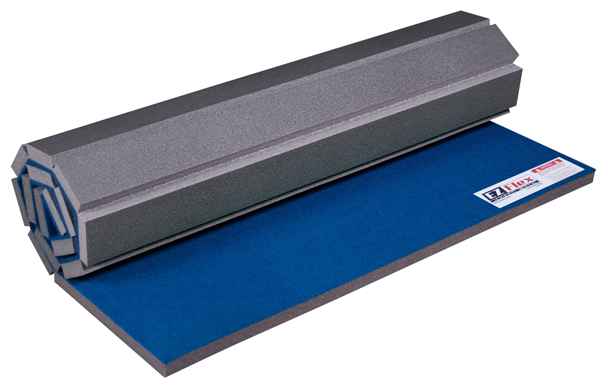 EZ Flex Home Cheerleading Practice Mat - 4' x 6' x 1-3/8 (Blue)