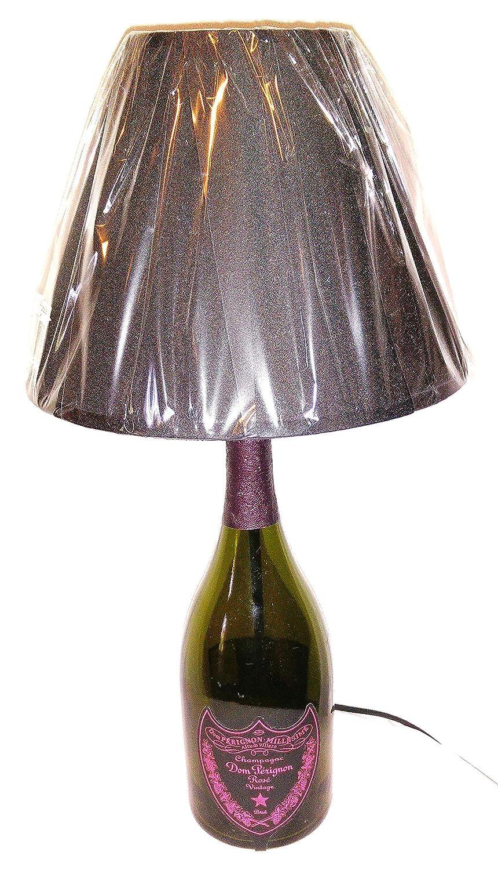 Lampada Bottiglia vuota Dom Perignon Rosè Luminous idea regalo riciclo creativo riuso arredo design